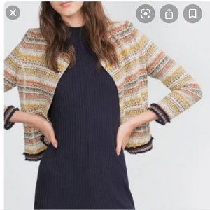 Zara striped jacquard aztec jacket
